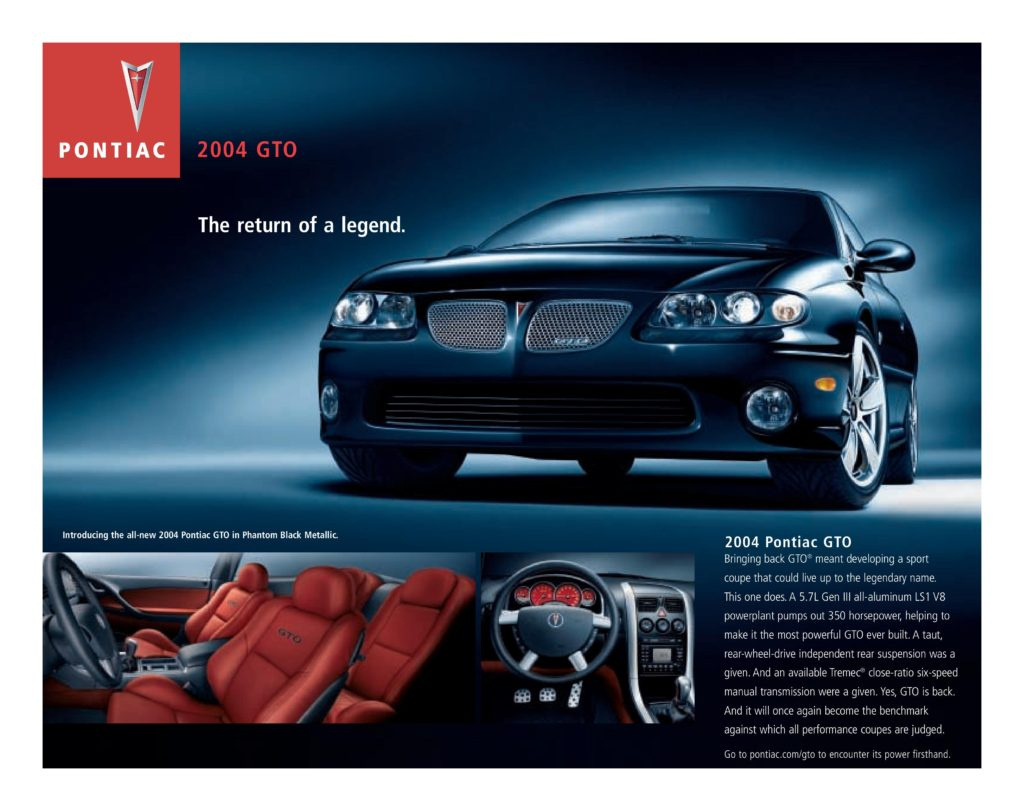 2004-2006 Pontiac GTO Production Numbers & Specs | Mark Quitter Racing